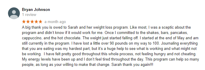 Weight Loss Yakima WA Testimonial